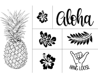 """Magnolia Design Co-Aloha-Reusable Adhesive Silkscreen Stencil 12"""" x 18""""-Chalk Art DIY"""