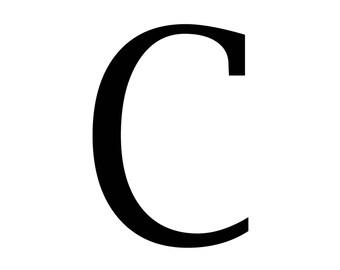 "Magnolia Design Co-""C"" Monogram Letter-Reusable Adhesive Silkscreen Stencil 5""X7""-Chalk Art DIY"