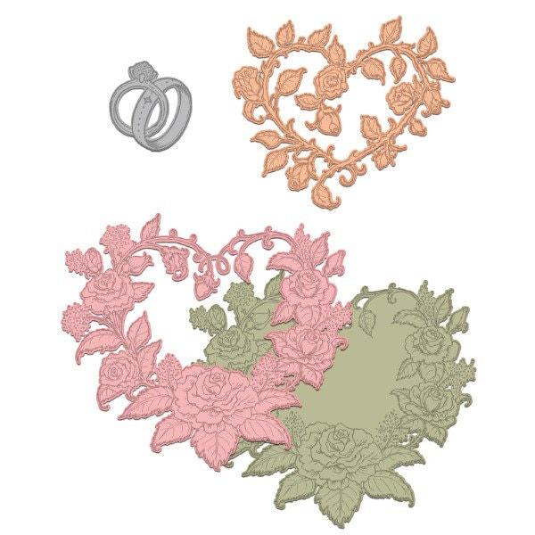 Des créations sincères classique mariage Roses HCD1-7142 HCD1-7142 Roses 4bac81