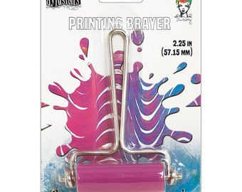 Ranger Ink Gel Plate Printing Brayer-SMALL W/PINK ROLLER-Ranger, Dyan Reaveley, and Dina Wakley