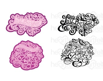 Heartfelt Creations Ornate Just for You Die and Stamp Bundle HCD1-7321 & HCPC-3936
