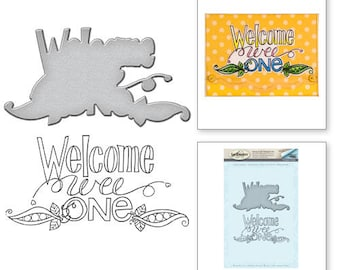 Spellbinders Welcome Wee One Stamp and Die Set from the Happy Grams #2 Collection by Tammy Tutterow SDS-033