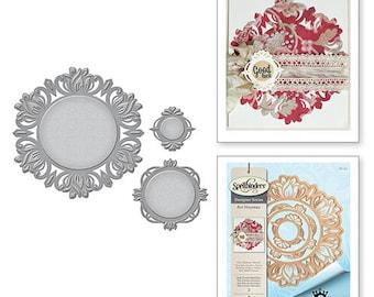 Spellbinders Shapeabilities Art Nouveau Stile Floreal Medallion Stacey Caron Etched Dies S6-103