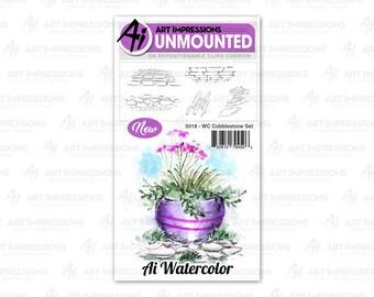 Art Impressions Unmounted Door Stamp Set 5013 - WC
