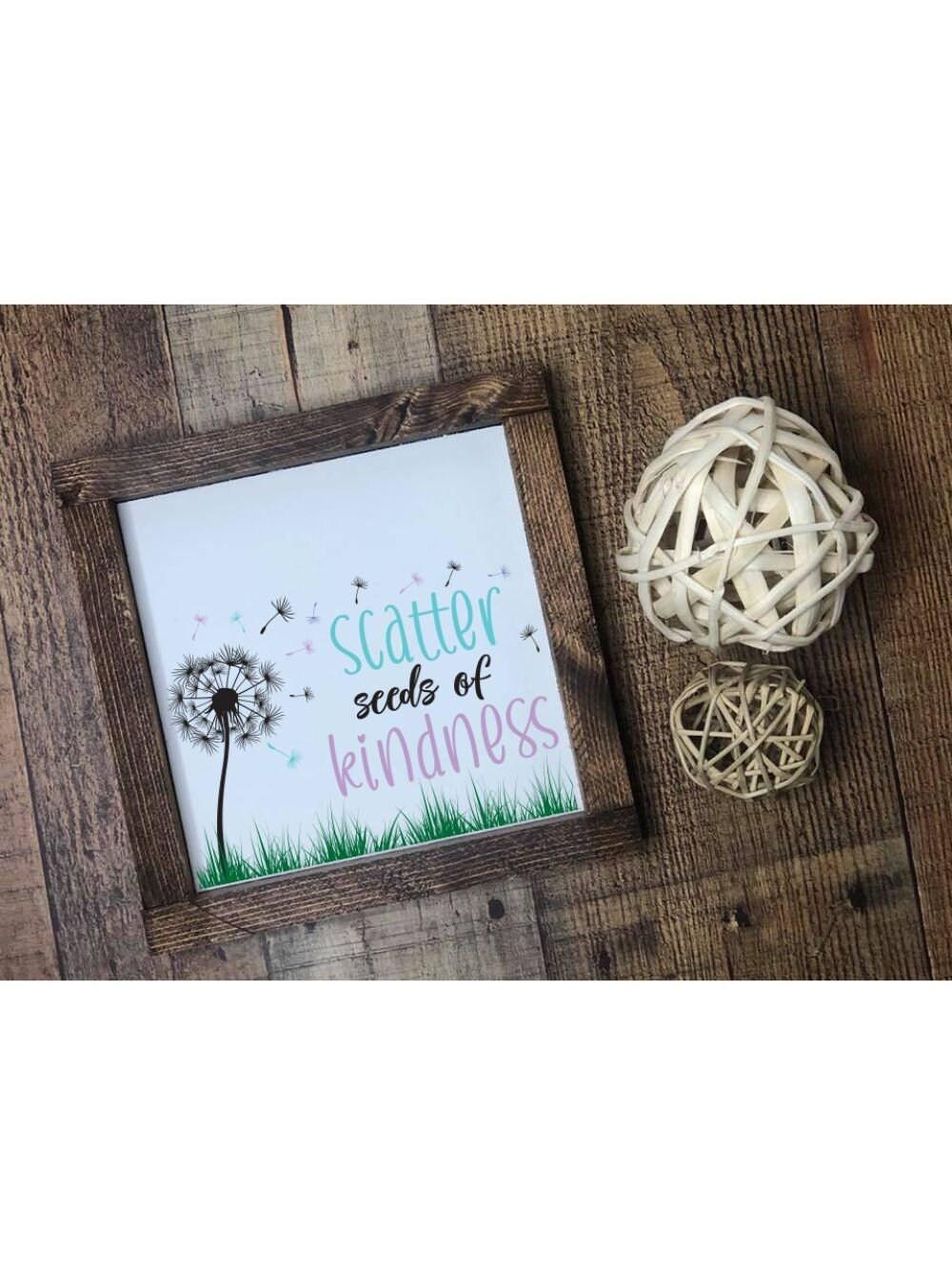 5x7-Scatter Seeds of Kindness-Magnolia Design Co Reusable Stencil