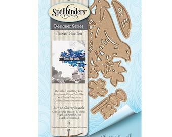 Spellbinders - Flower Garden Collection - Shapeabilities Dies - Bird on Cherry Branch - S2-285