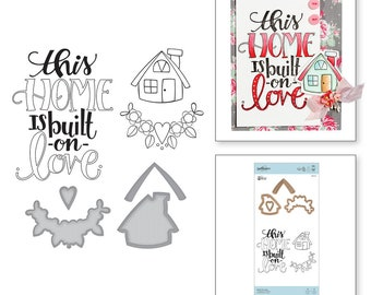 Spellbinders Built On Love Stamp and Die Set Sew Sweet Collection by Tammy Tutterow SDS-121