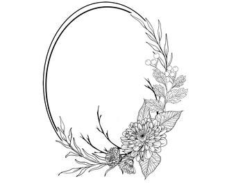 """Magnolia Design Co-Fall Wreath-Reusable Adhesive Silkscreen Stencil 15"""" x 15""""-Chalk Art DIY"""
