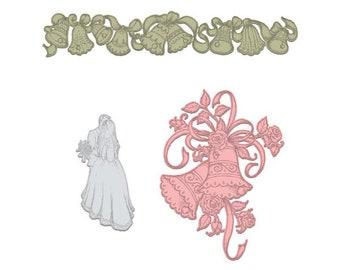 Heartfelt Creations Classic Wedding Bells HCD1-7143
