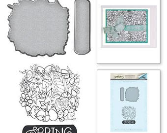 Spellbinders Spring Stamp and Die Set from the Spring Love Collection by Stephanie Low SDS-056