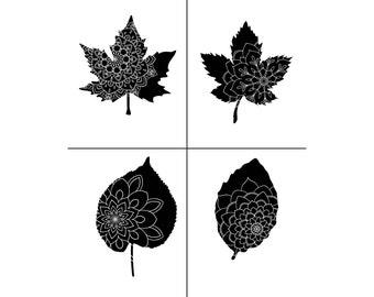 """Magnolia Design Co-Fall Fantasy-Reusable Adhesive Silkscreen Stencil 8.5"""" x 11""""-Chalk Art DIY"""