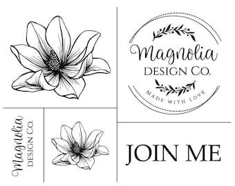 """Magnolia Design Co-Magnolia Logo-Reusable Adhesive Silkscreen Stencil 8.5"""" X 11""""-Chalk Art DIY"""