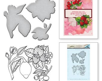 Spellbinders Lemon Stamp and Die Set from the Spring Love Collection by Stephanie Low SDS-058