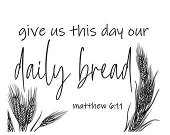 """Magnolia Design Co-Daily Bread-Reusable Adhesive Silkscreen Stencil 8.5"""" x 11""""-Chalk Art DIY"""