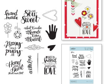 Spellbinders Sew Tiny Sentiments Stamps Sew Sweet Collection by Tammy Tutterow SBS-162