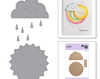 Spellbinders Die D-Lites Happy Weather Etched Dies - S3-340