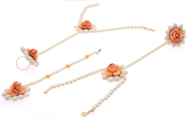 Indian Artificial Floral Jewellery For Baby Shower Godh Etsy