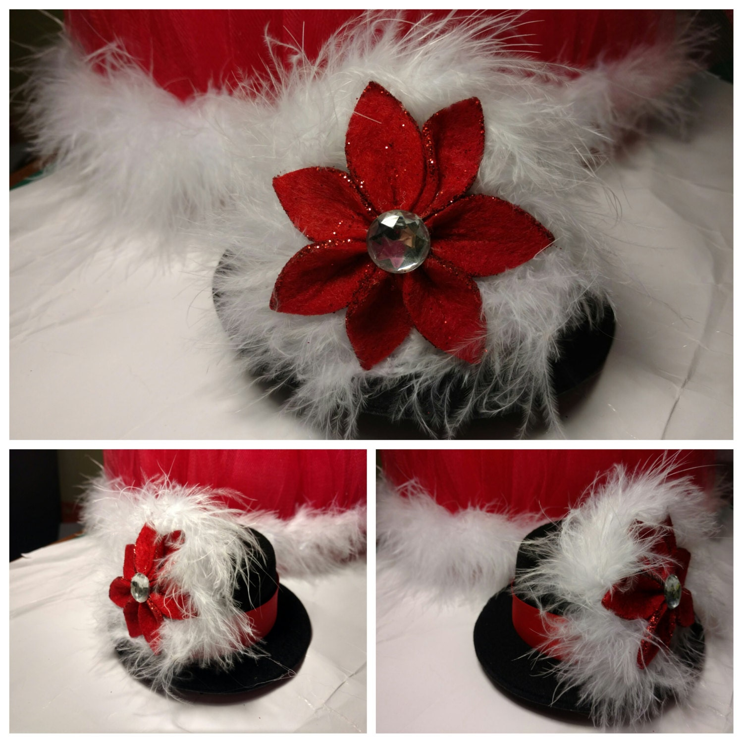 df361e0c353 Christmas Top Hat Headband Christmas Fascinator Mini