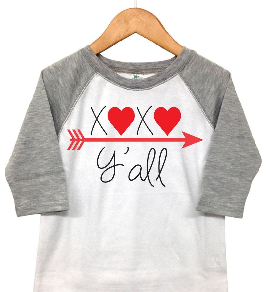 40fc009eb298 Valentines Day Shirt XOXO Y'all Toddler Valentine   Etsy