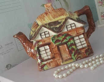 Price Kensington cottage ware teapot, tea time, collectible, English pottery, home gift, 1940 1950's vintage home decor.