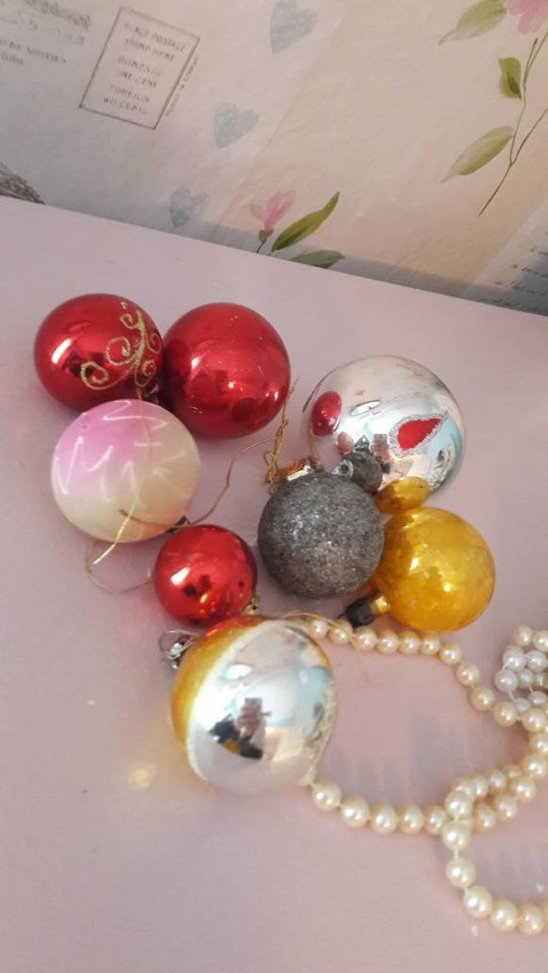 Mercury Glass Christmas Tree Baubles Xmas Ornaments Holidays Decorations Collectible Festive Vintage Home Decor