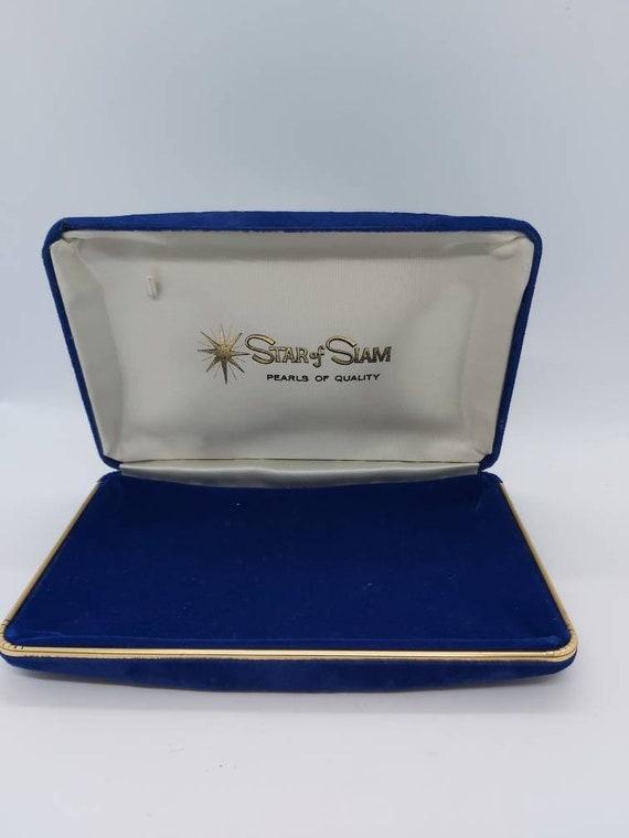 Star of siam Jewellery box, blue velvet jewelry bo