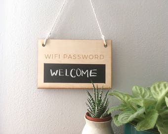Wifi Password Sign, guest room, internet password, office boss lady, mothers day gift, wedding signage, airbnb decor, under 30, gift for mom