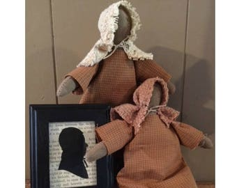 Covered Wagon Bonnet Doll