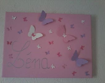 Painting romantic name for girl's bedroom