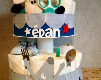 Gâteau de couches personnalisable