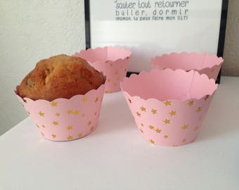 Lovely set of 4 cupcake or muffin cups