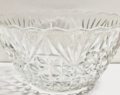 Arlington Punch Bowl by Anchor Hocking,Vintage Clear Glass Punch Bowl,Holiday Punch Bowl,Wedding Punch Bowl,Replacement Arlington Glass