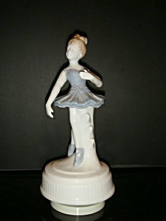 Vintage Porcelain Ballerina Musical Carousel,Maruho Japan,Ballerina Figurine
