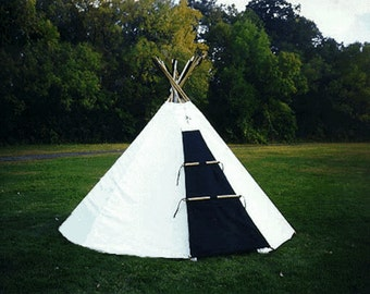 Sami Lavvu Tent - Ten feet diameter - Similar to a Tipi, but very different.... 100% natural cotton, traditional, and light-weight...