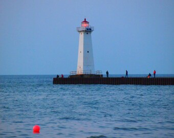 Sodus Point  lighthouse NY 8x10 or 5x7 Fine Art Print  Digital Photography