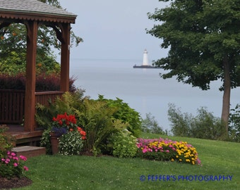 Sodus Point Lake Ontario Lighthouse NY 8x10 or 5x7 Fine Art Print Digital  Photography