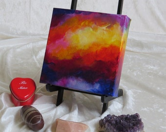 Keep Passion Alive No. 3020, Abstract Acrylic Paint, Original Painting, 6x6x1.5 Premier Gallery Canvas