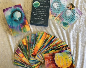 Gifts for Her, Jumbo Card Deck, Original Paintings, Inspiration Card Deck, Original Art, Abstract Art