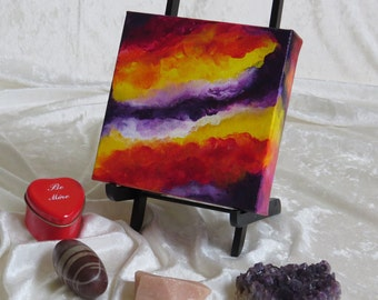Keep Passion Alive No. 3021, Abstract Acrylic Paint, Original Painting, 6x6x1.5 Premier Gallery Canvas