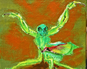 Praying Mantis - Original Painting