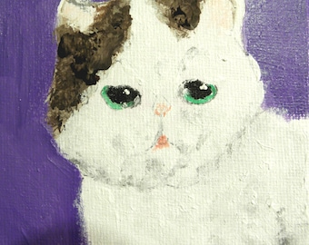 Smoosh Face Kitten - Original Art