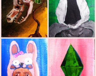 Sims Minis -- Original Paintings