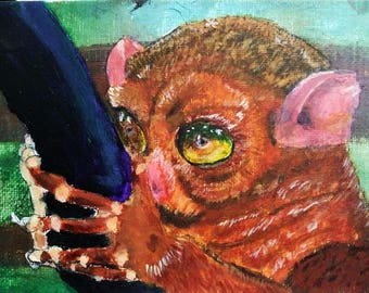 Tarsier Sees All -- Original Art