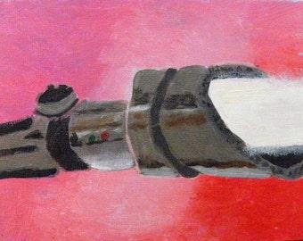 Lightsaber: Pink - Original Painting