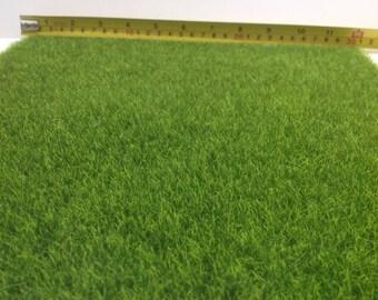 Dollhouse Miniature Landscaping Garden Yard Flooring Grass Mat 1ft x 1ft (As Real)