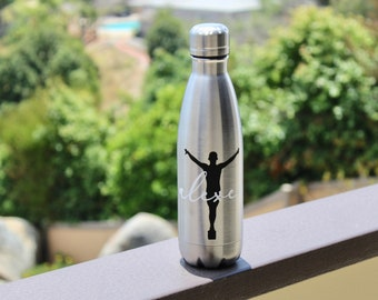 85763d5fde Male gymnast water bottle, personalized water bottle, coke shape bottle,  sports water bottle, gymnastics team bottle, coach gift, insulated