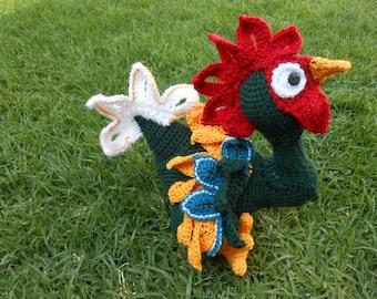 Pattern Kiriko rooster amigurumi. By Caloca Crochet