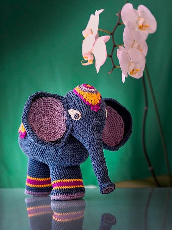 Patrón Elefante Indio amigurumi. Por Caloca Crochet   Etsy