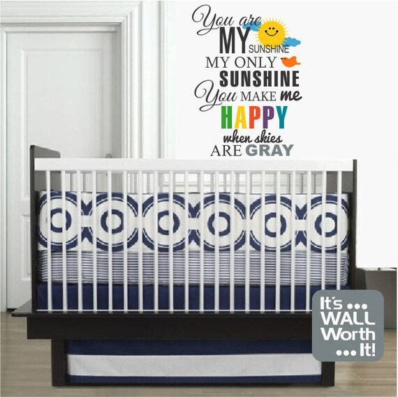 You Are My Sunshine Wall Decal by ItsWallWorthit