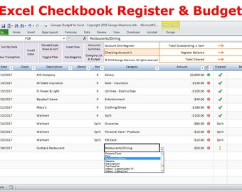 checkbook register for mac excel checkbook spreadsheet etsy